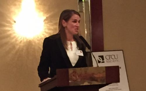 Chapter President Joanna Rourke, CPCU